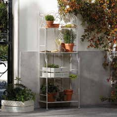 Chatsworth Cream 4 Tier Outdoor Shelf Unit