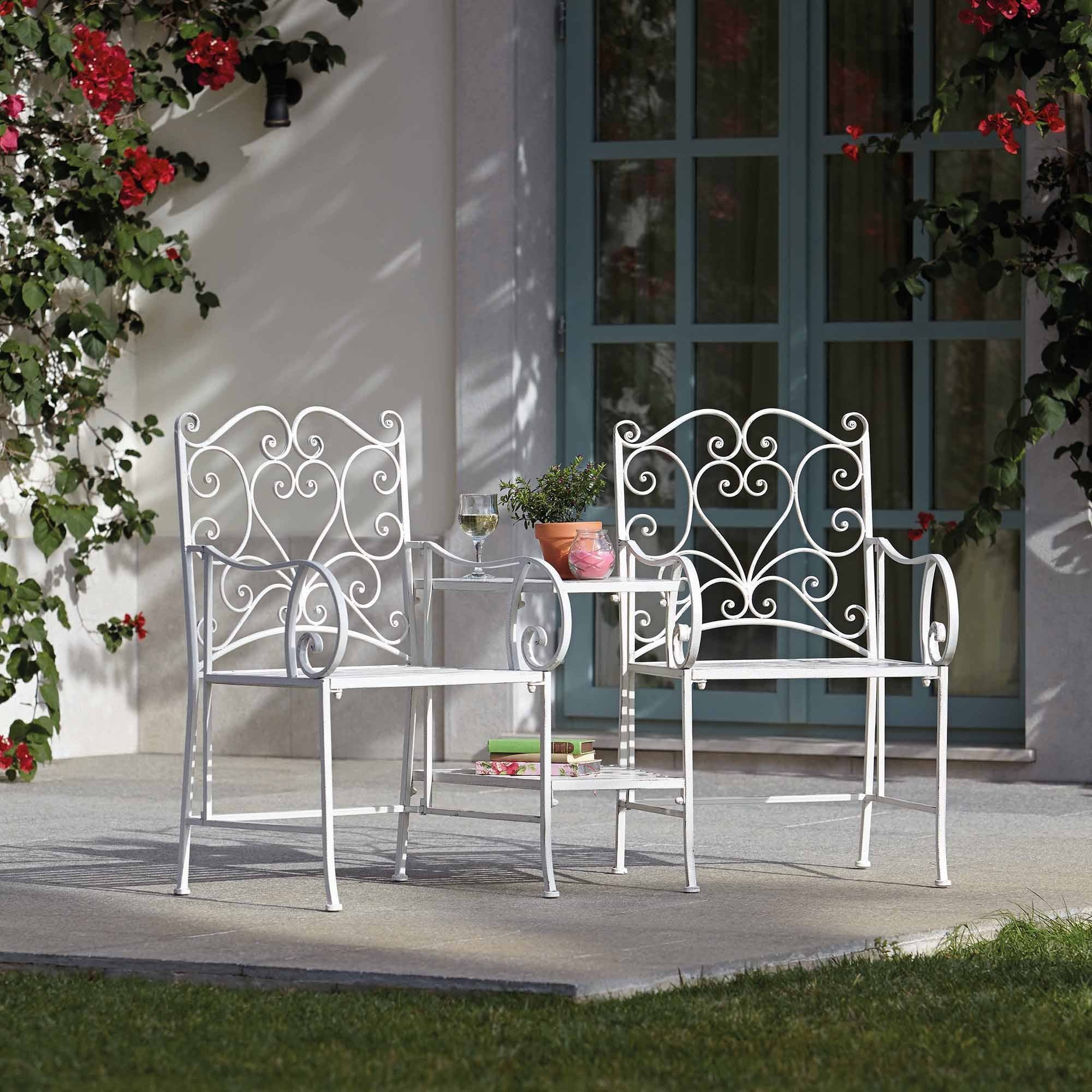 Chatsworth Cream Garden Chairs With Table