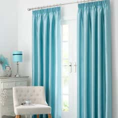 Duck Egg Blue Dakota Lined Pencil Pleat Curtains