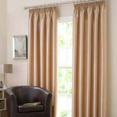 Gold Dakota Lined Pencil Pleat Curtains