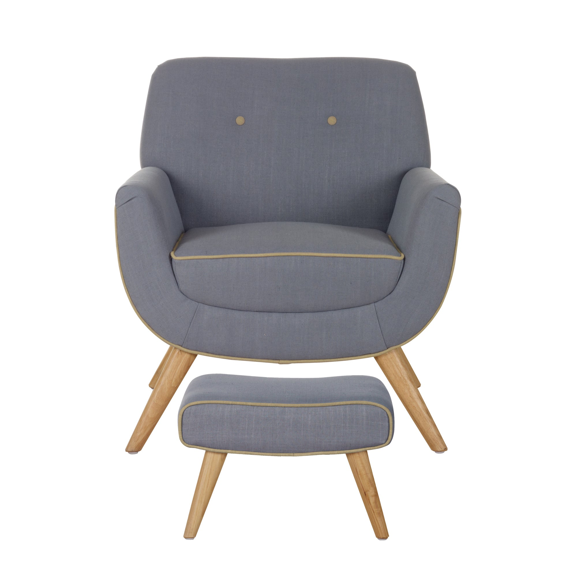 Skandi Charcoal Armchair and Footstool