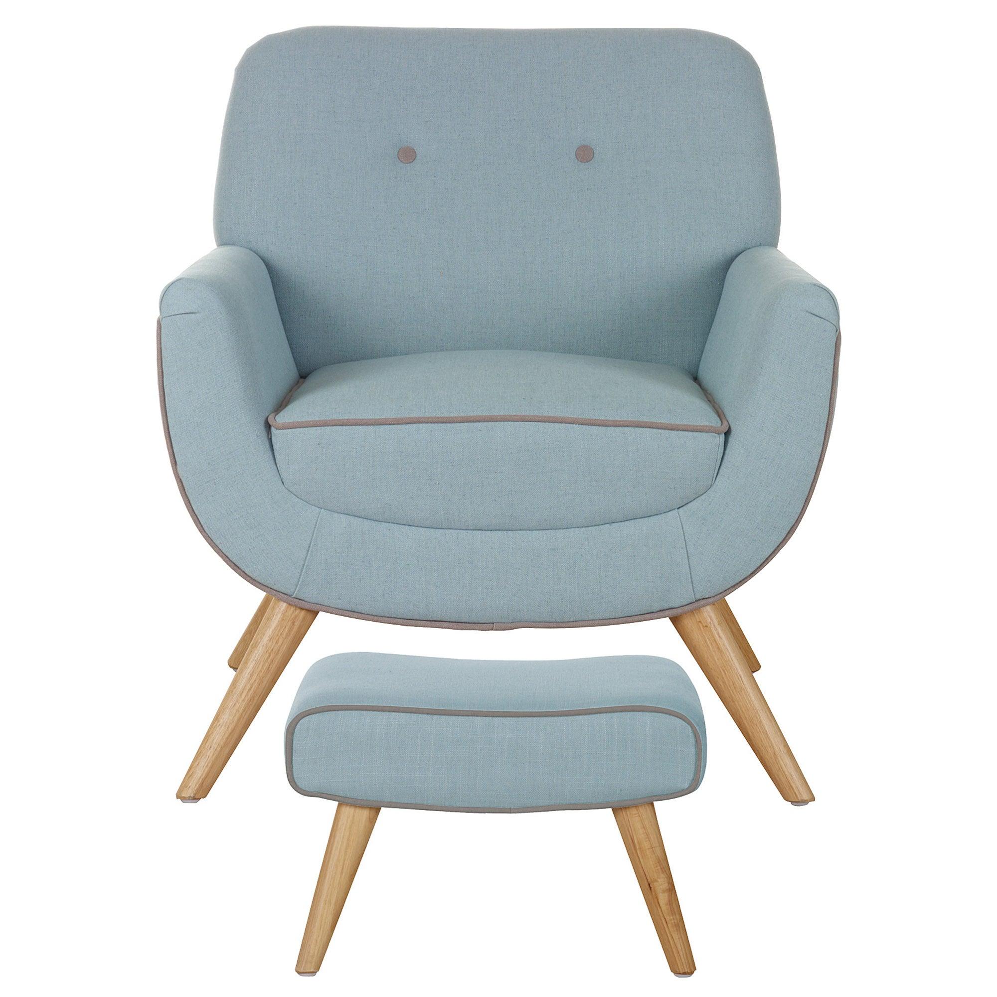 skandi duck egg armchair and footstool dunelm. Black Bedroom Furniture Sets. Home Design Ideas