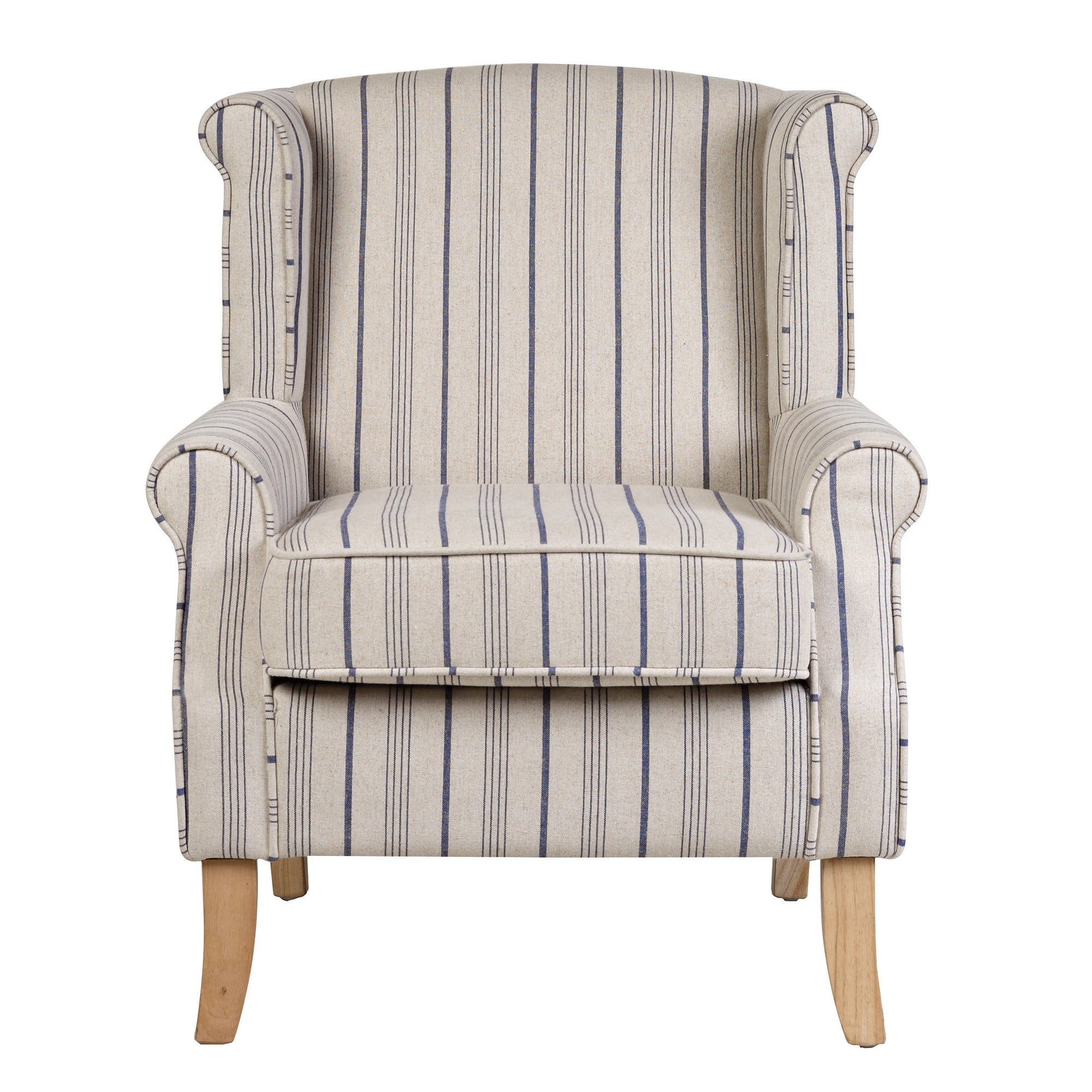 Blue Stripe Edinburgh Armchair