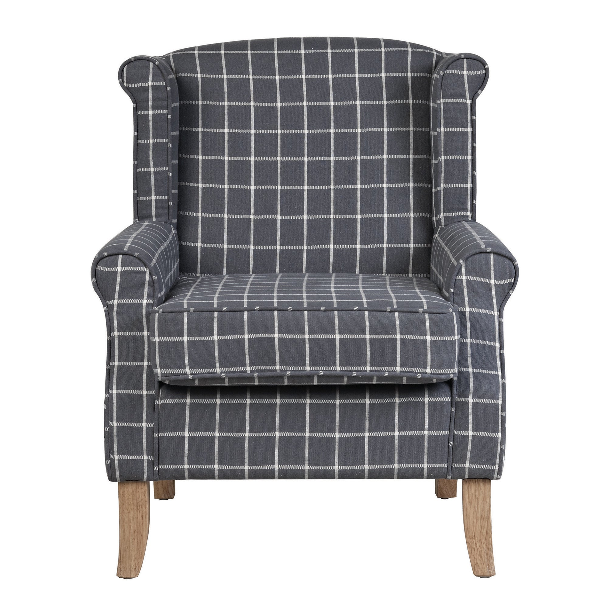 Charcoal Check Edinburgh Armchair