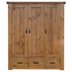Loxley Pine Triple Wardrobe