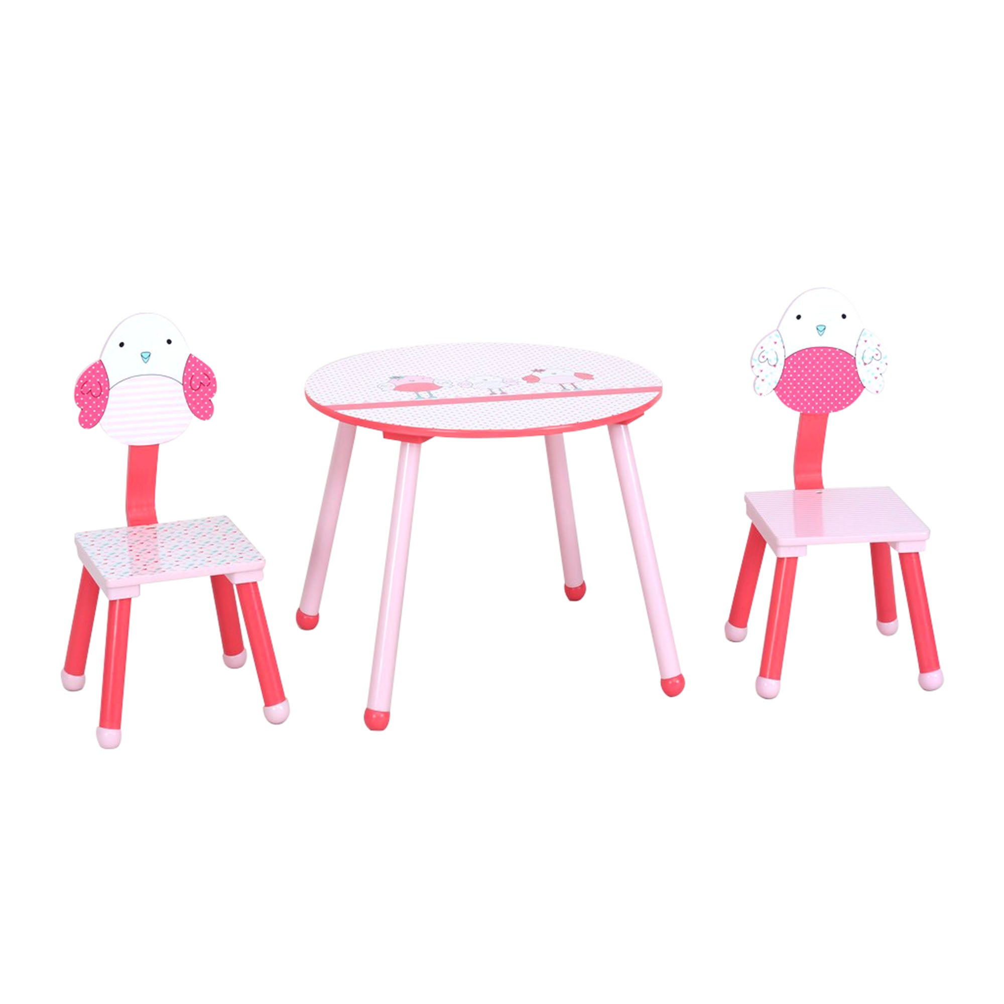 Kids Birdie Collection Playtable and Chairs