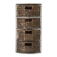 Water Hyacinth 4 Drawer Corner Unit