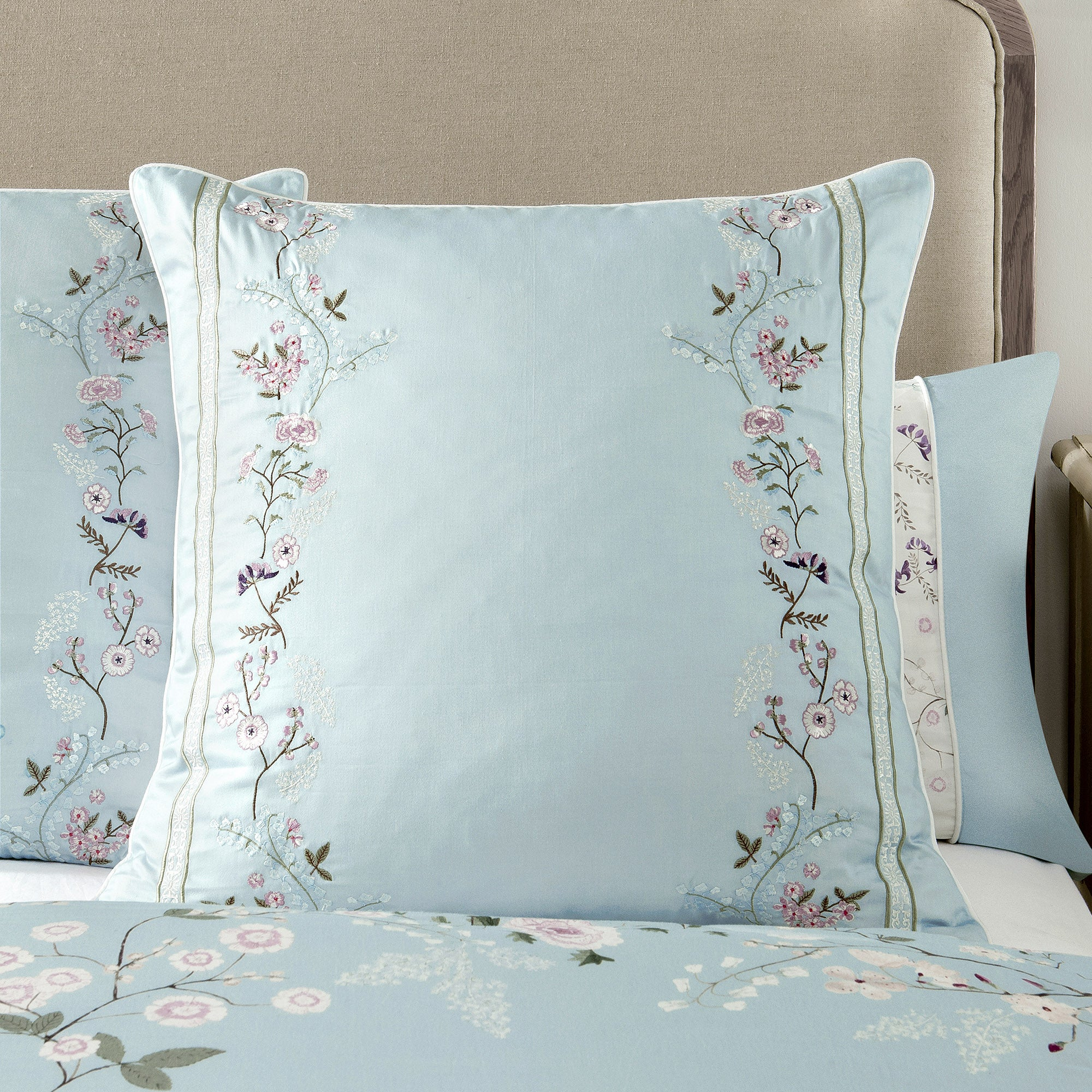 Dorma Duck Egg Maiya Collection Continental Pillowcase