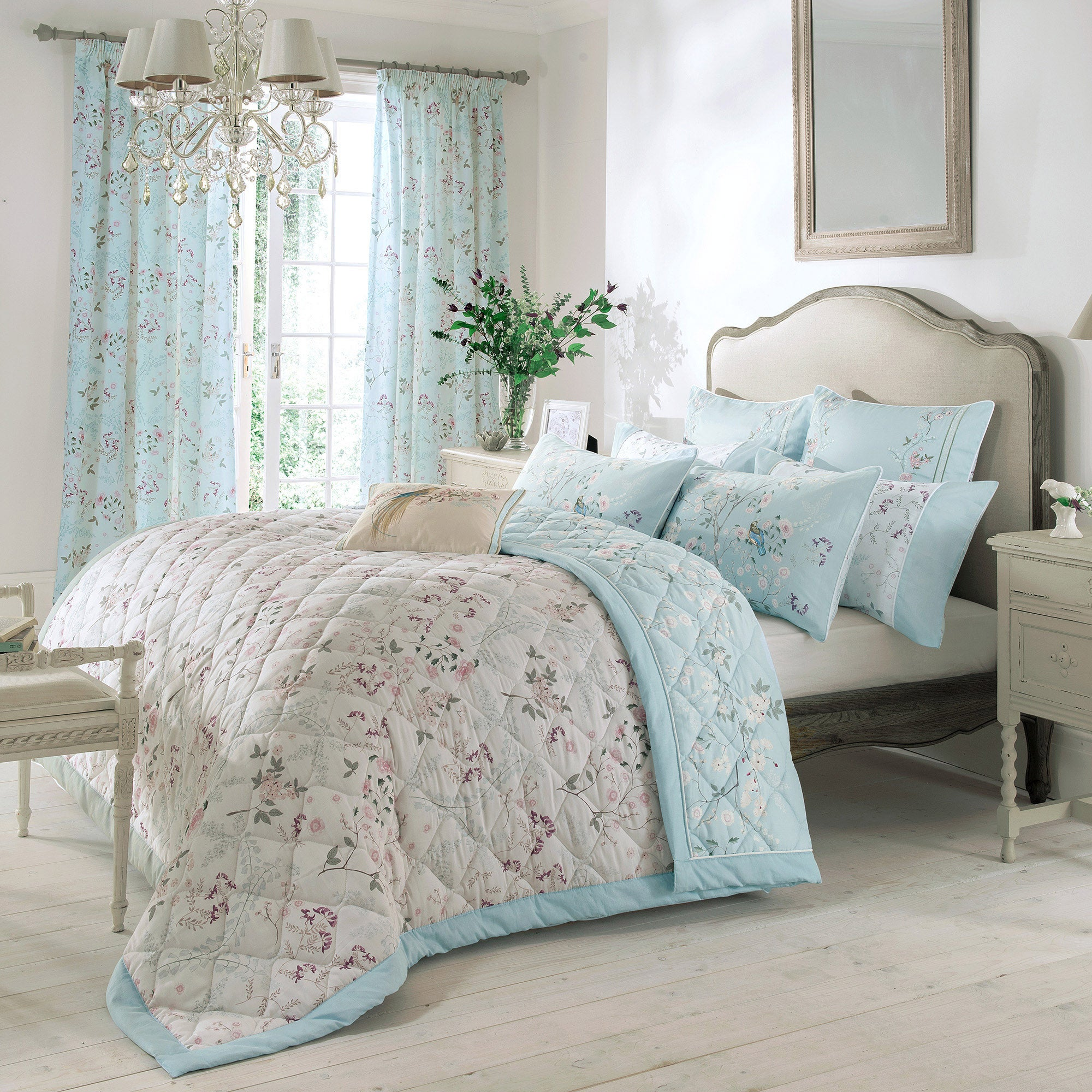 Dorma Duck Egg Maiya Collection Bedspread