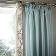 Duck Egg Beatrix Thermal Pencil Pleat Curtains
