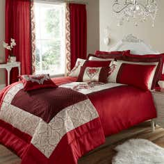 Red Beatrix Collection Quilt Cover
