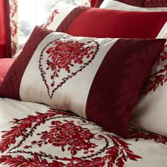 Red Beatrix Collection Boudoir Cushion