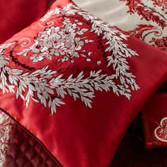 Red Beatrix Collection Square Cushion