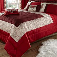 Red Beatrix Collection Bedspread