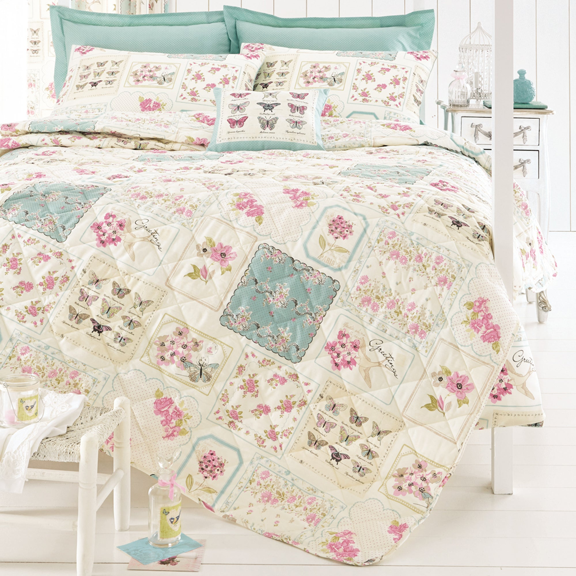 Duck Egg Maison Collection Bedspread