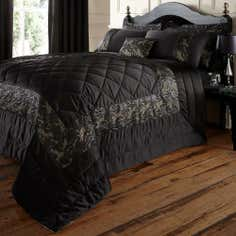 Black Zetta Collection Bedspread