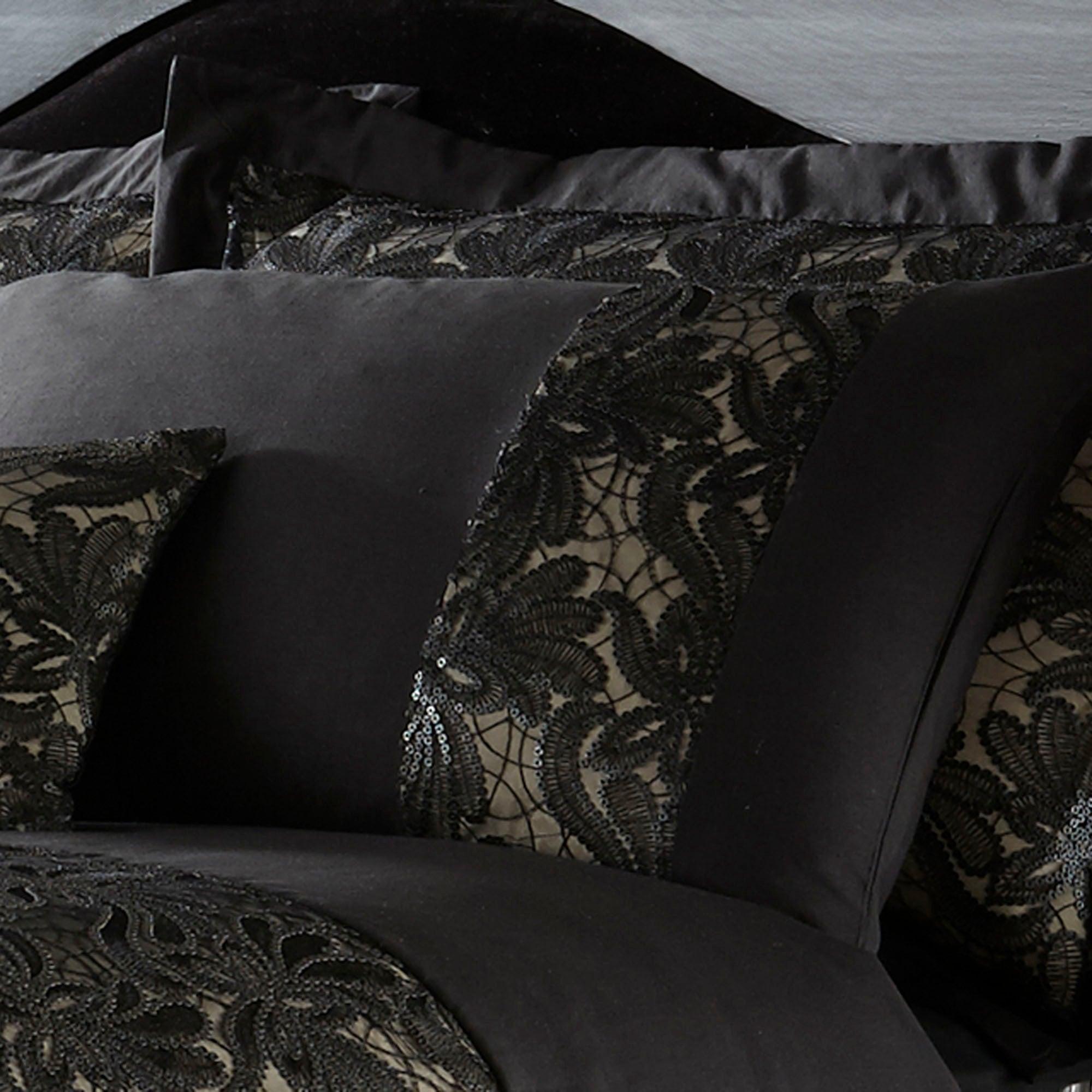 Black Zetta Collection Housewife Pillowcase