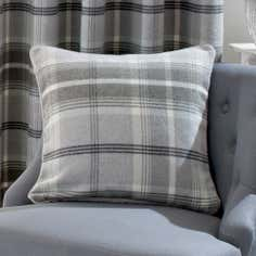 Dove Grey Highland Check Cushion