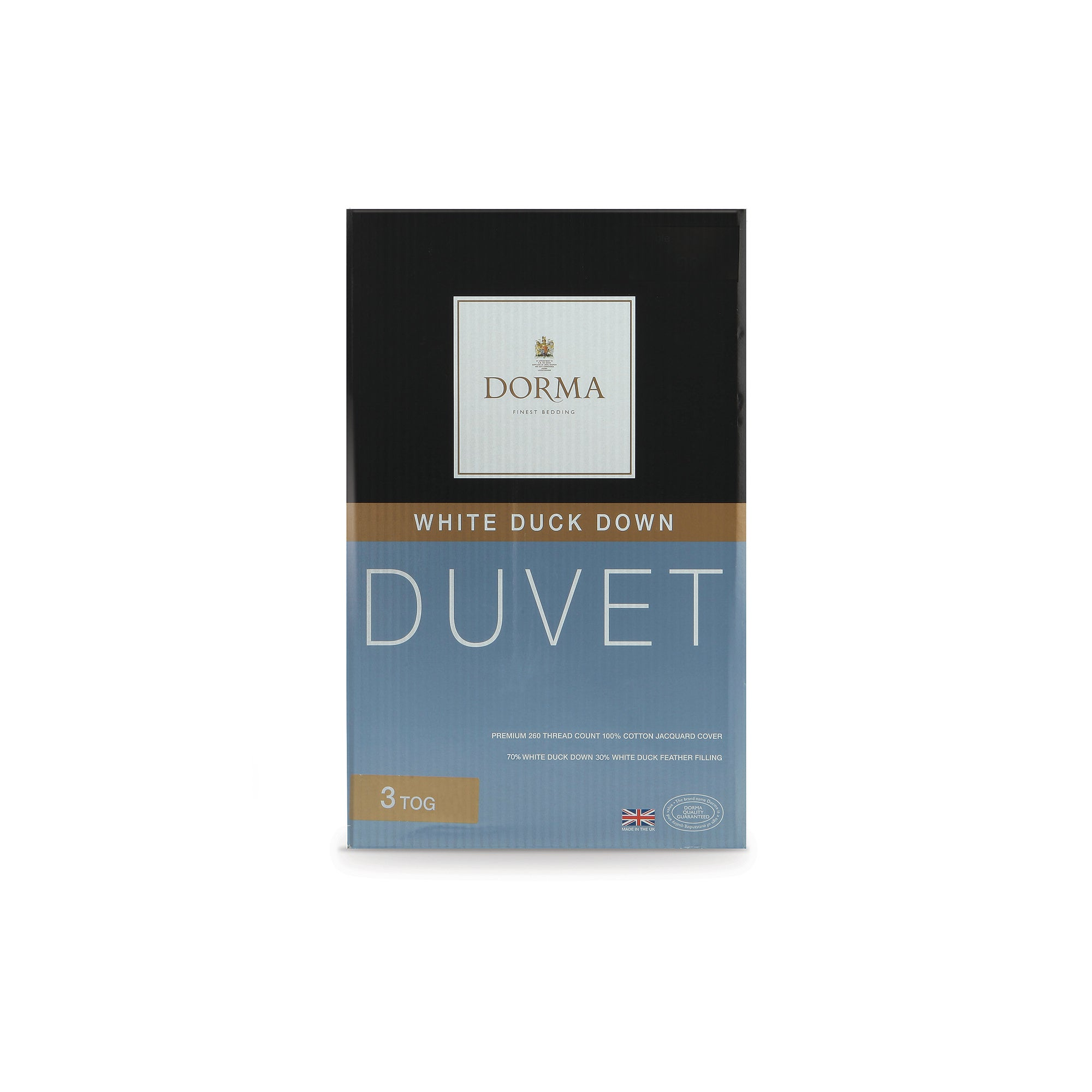 Dorma Duck Down 3 Tog Duvet
