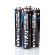 Infinity Pack of 4 Super Alkaline AAA Batteries