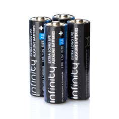Infinity Pack of 4 Super Alkaline AA Batteries