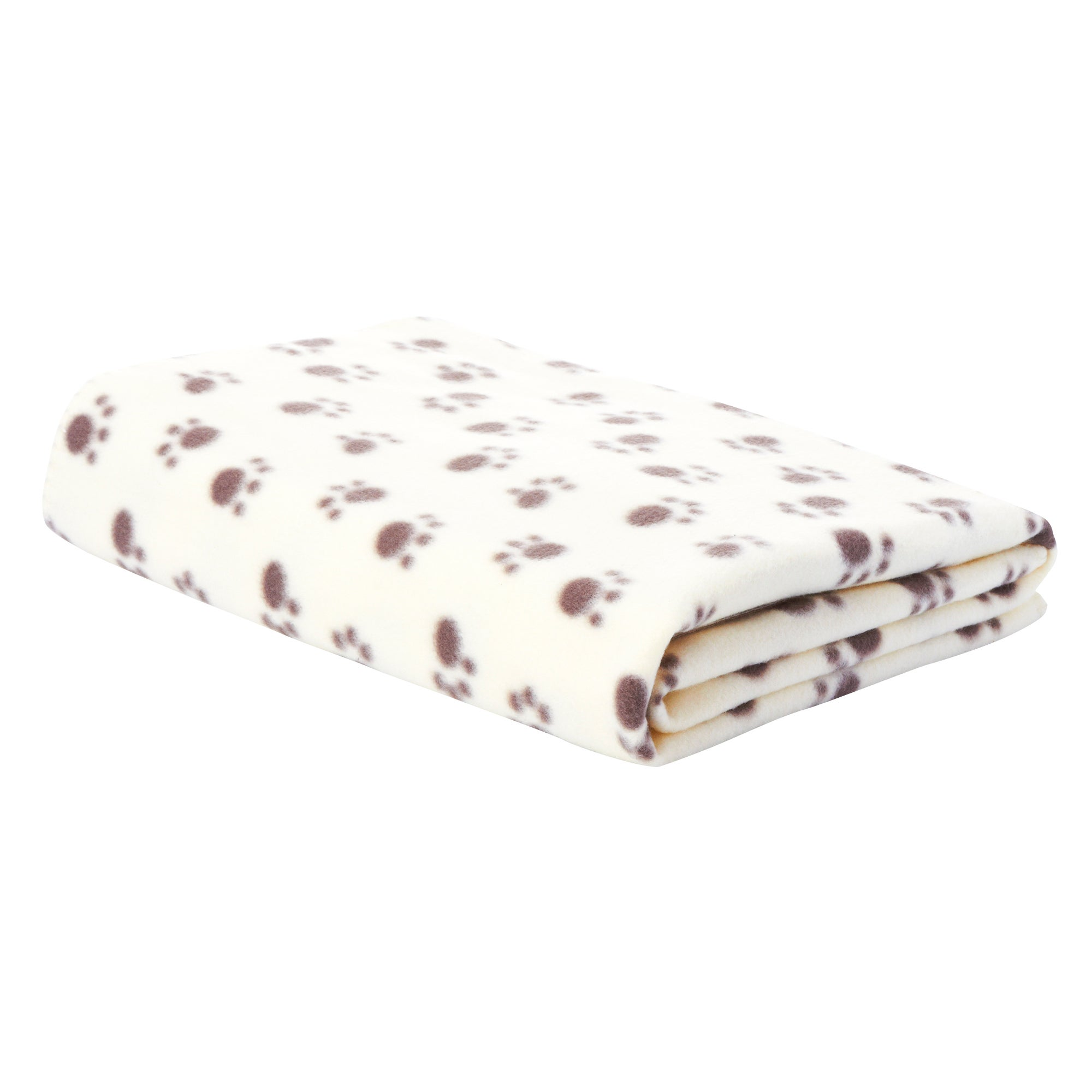 Paw Print Fleece Pet Blanket