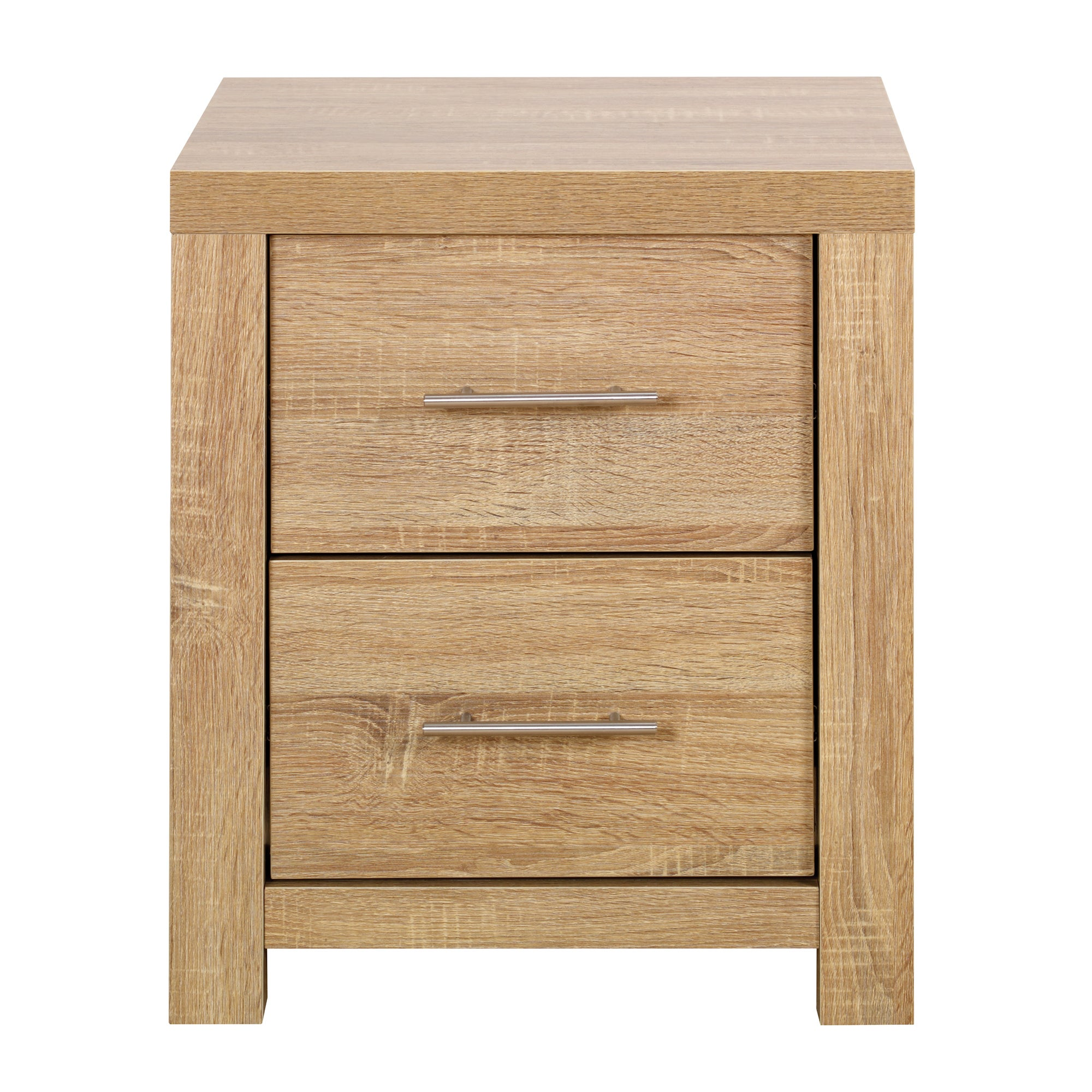 Ontario Oak 2 Drawer Bedside Unit