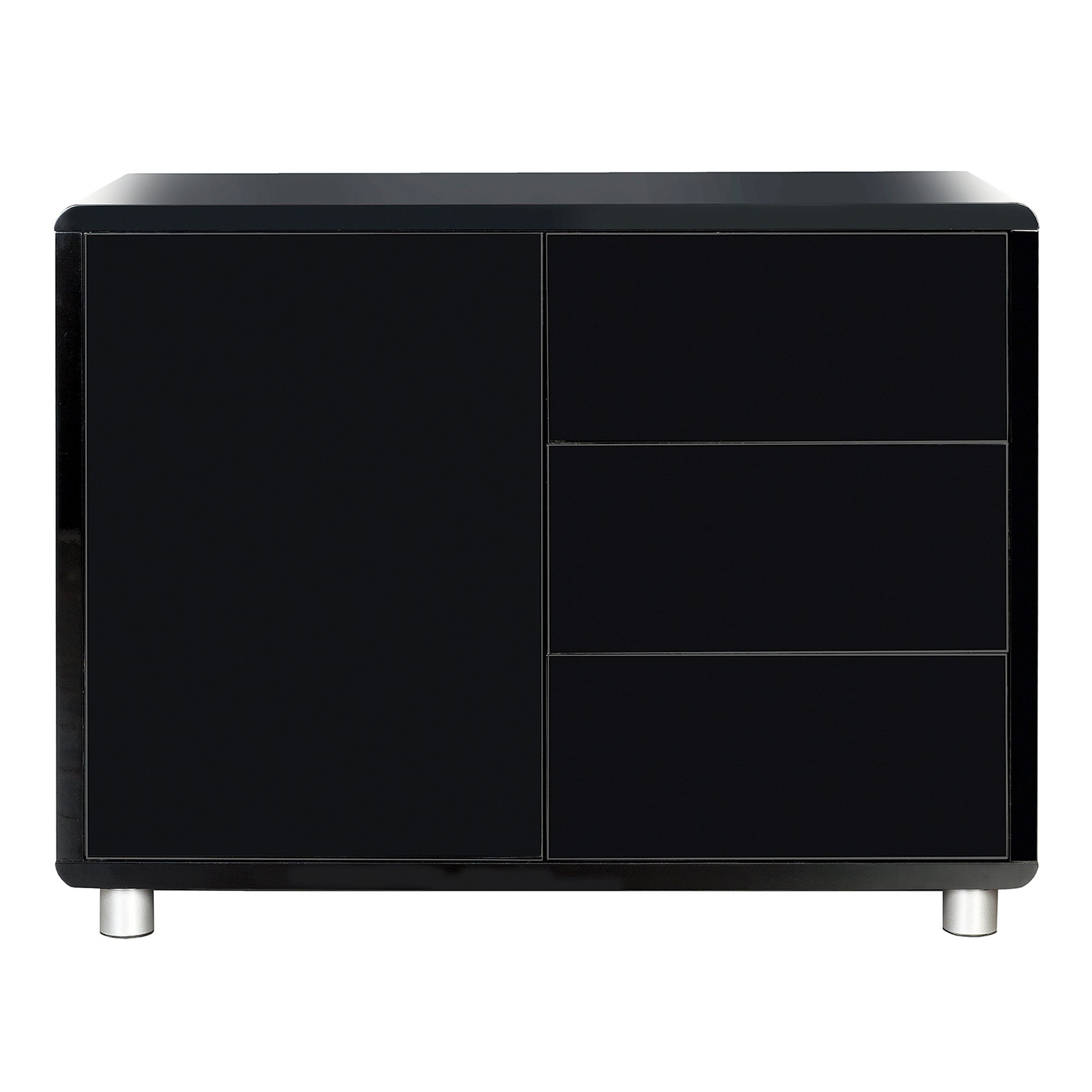 Soho Black Gloss Small Sideboard