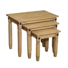 Santa Lucia Pine Nest of 3 Tables