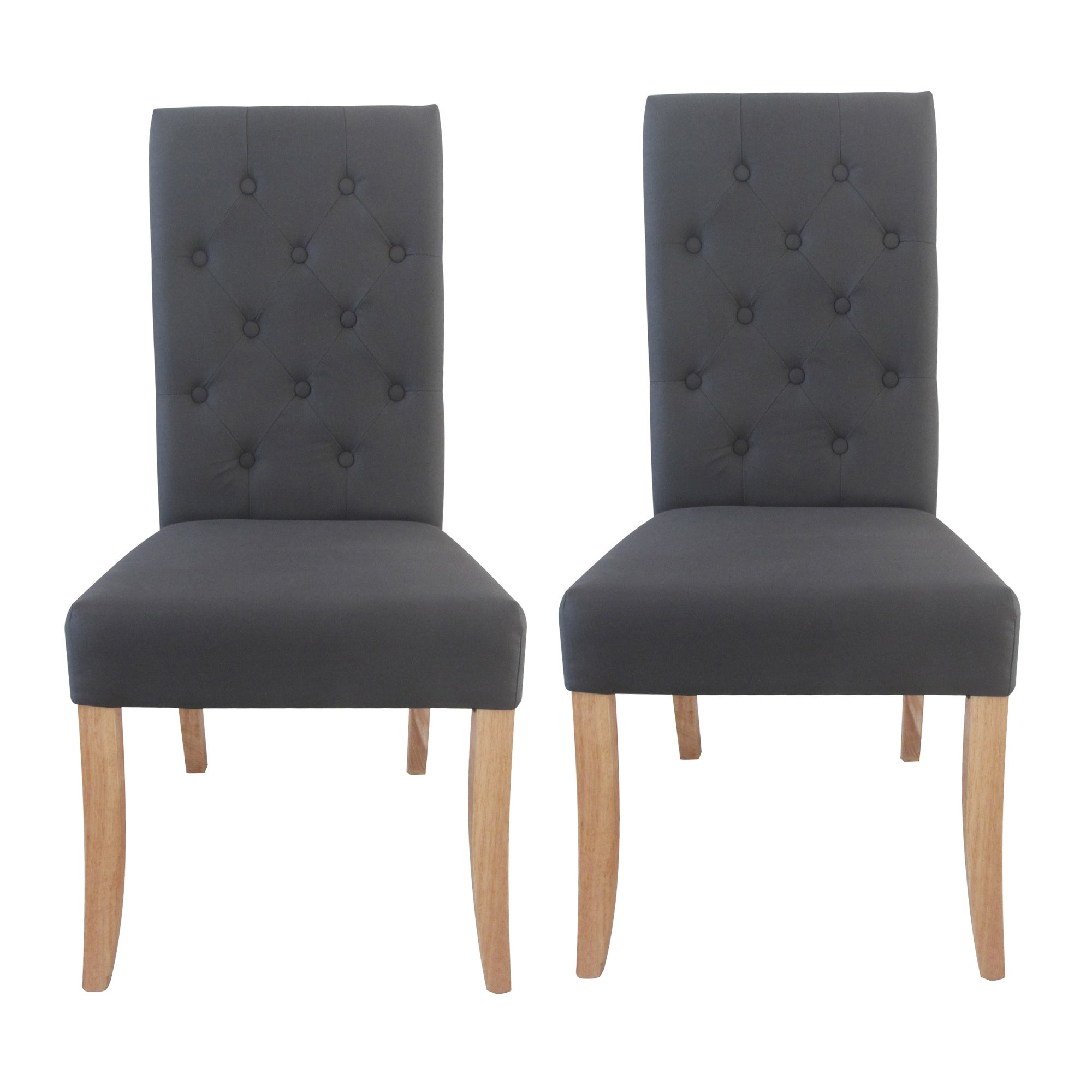 antoinette charcoal pair of dining chairs dunelm. Black Bedroom Furniture Sets. Home Design Ideas