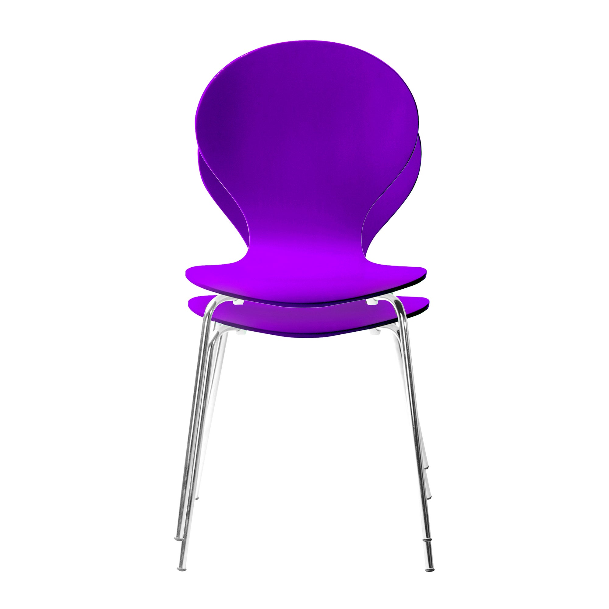 Spencer Purple Pair of Chairs