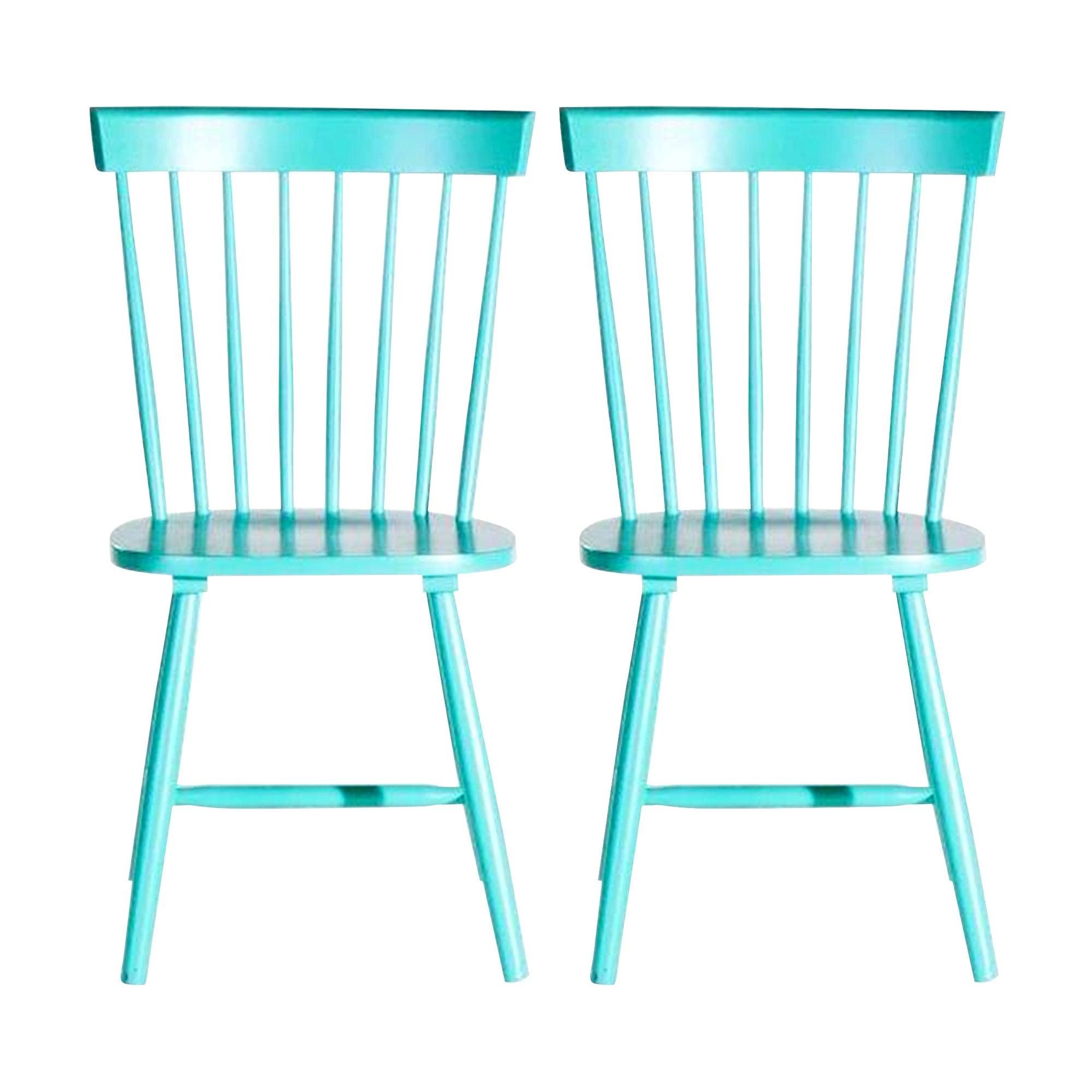Crofton Blue Pair of Spindle Back Chairs