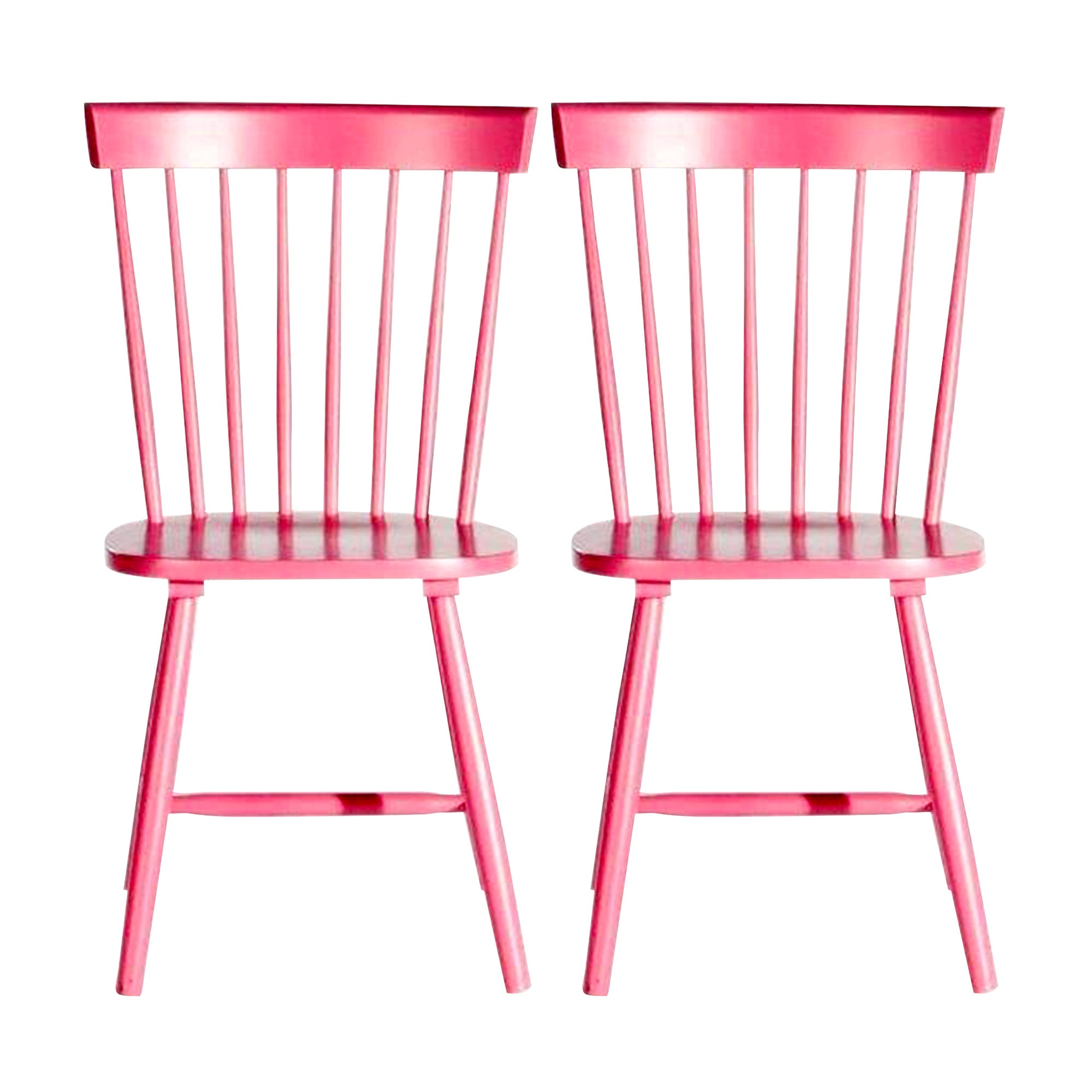 Crofton Pink Pair of Spindle Back Chairs