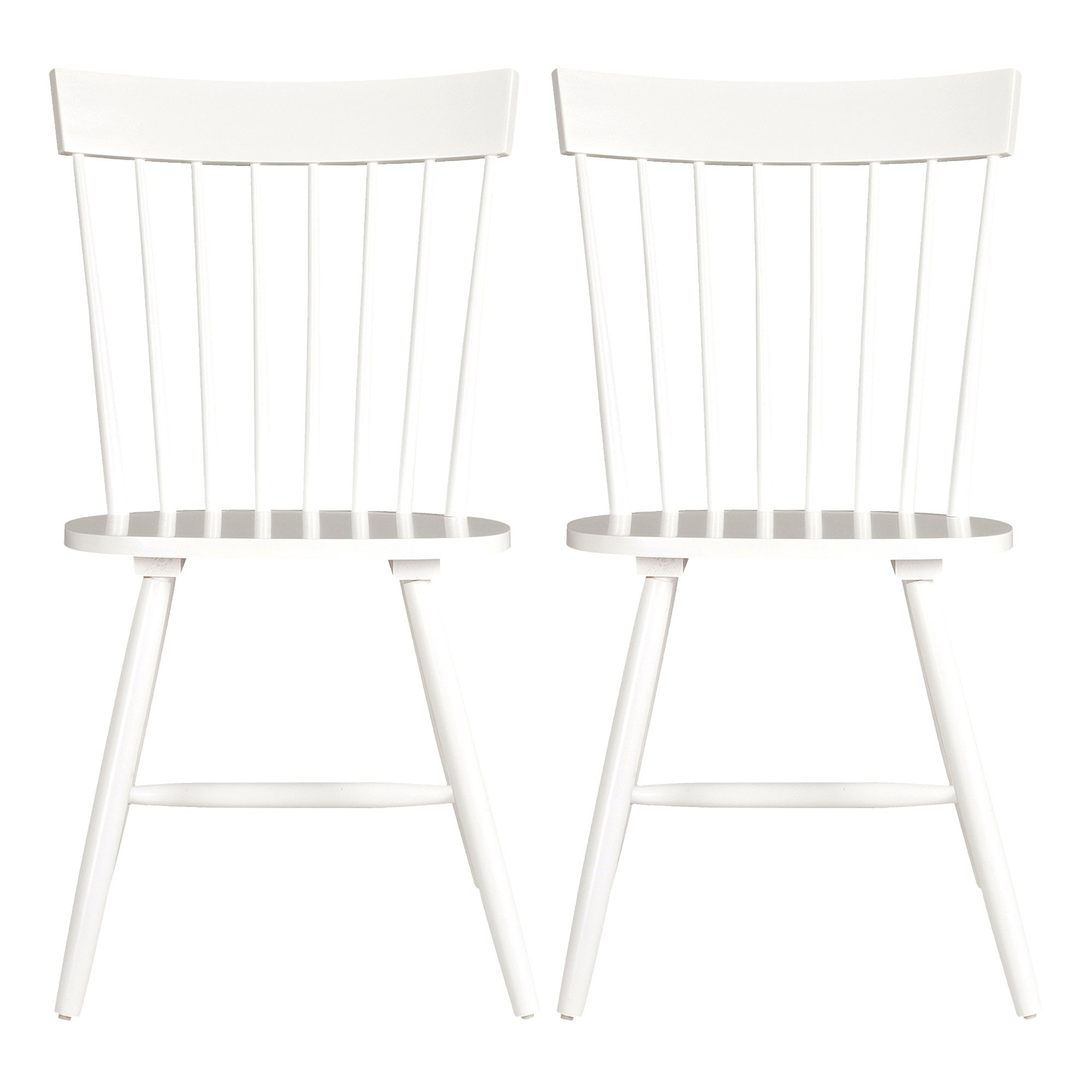 Crofton White Pair of Spindle Back Chairs