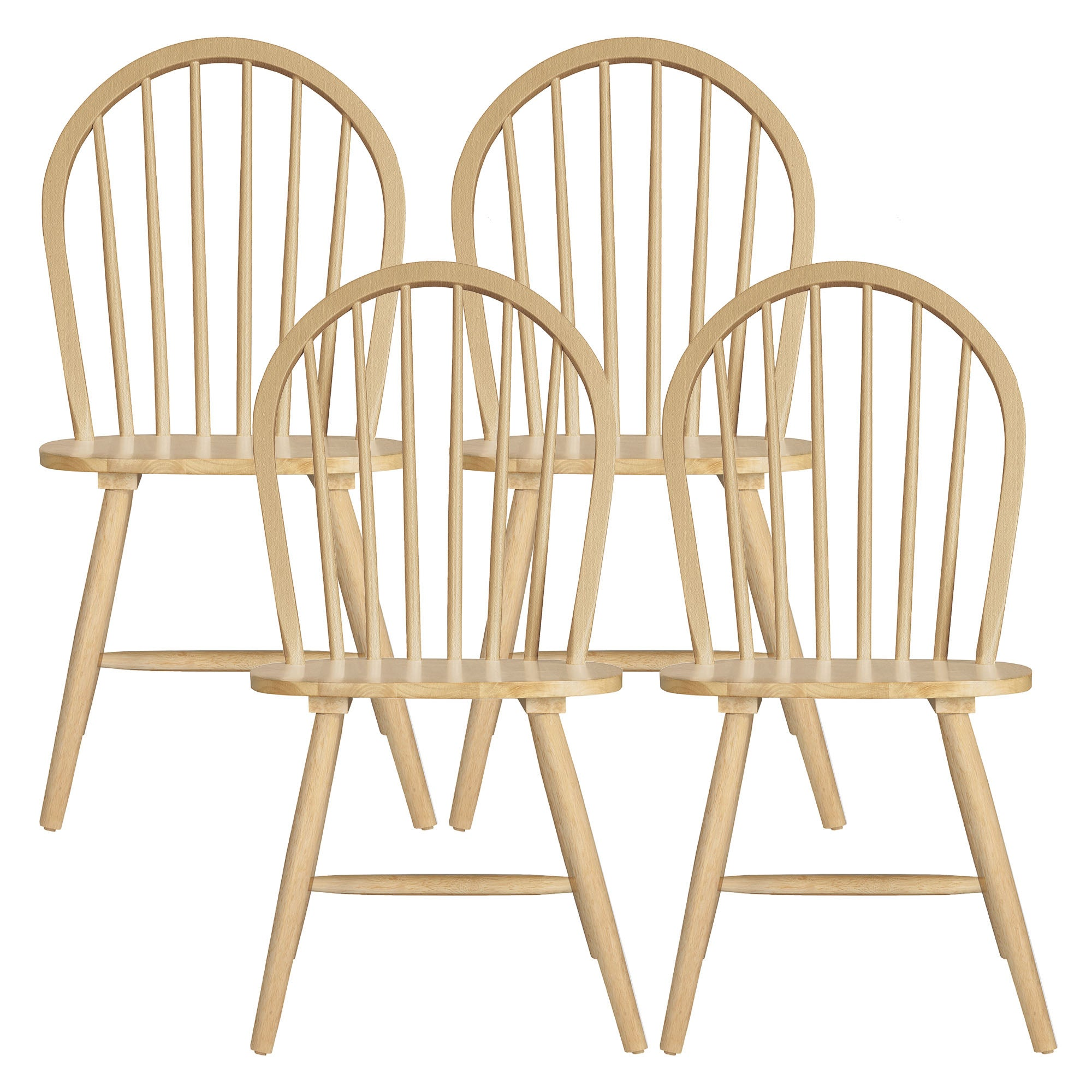 Alabama Natural Set of 4 Dining Chairs