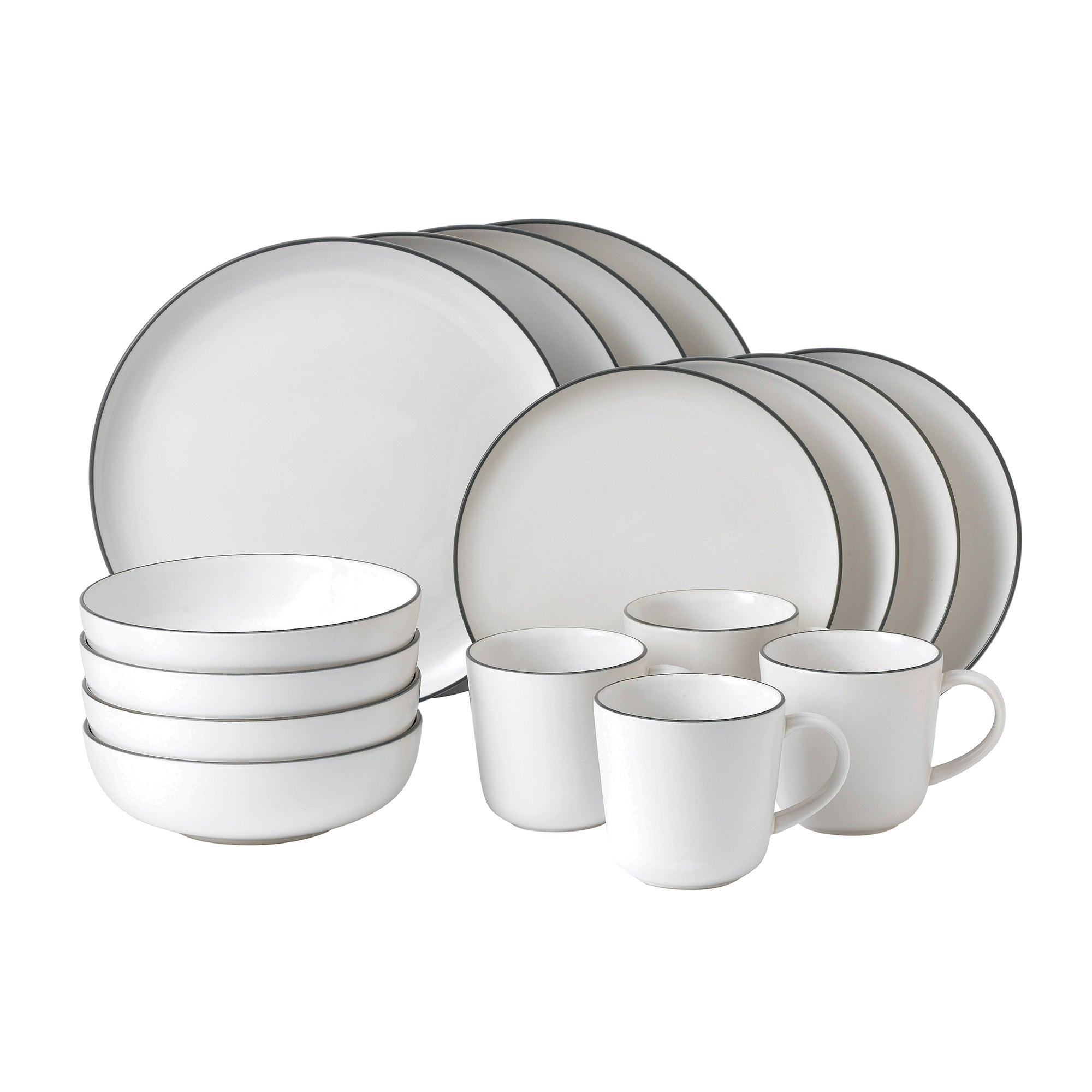 Gordon Ramsay White Bread Street Collection 16 Piece Dinner Set