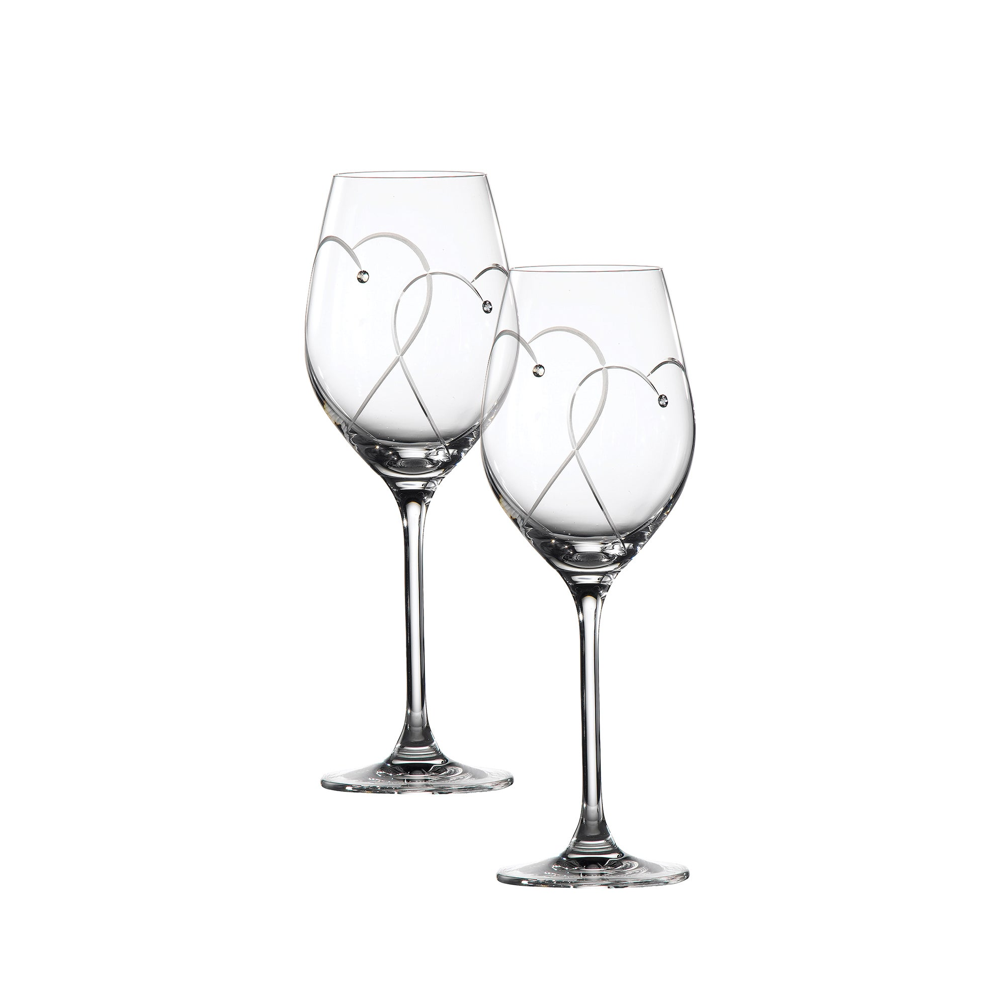 Royal Doulton Promises White Pair of Wine Glasses
