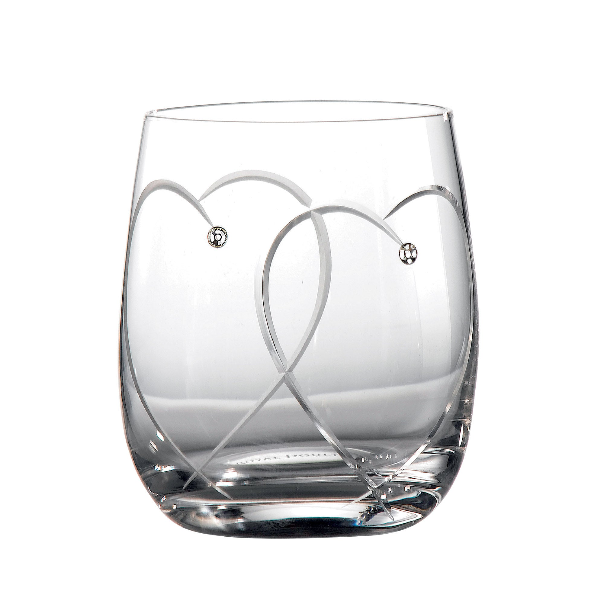 Royal Doulton Promises Pair of Toasting Tumbler Glasses