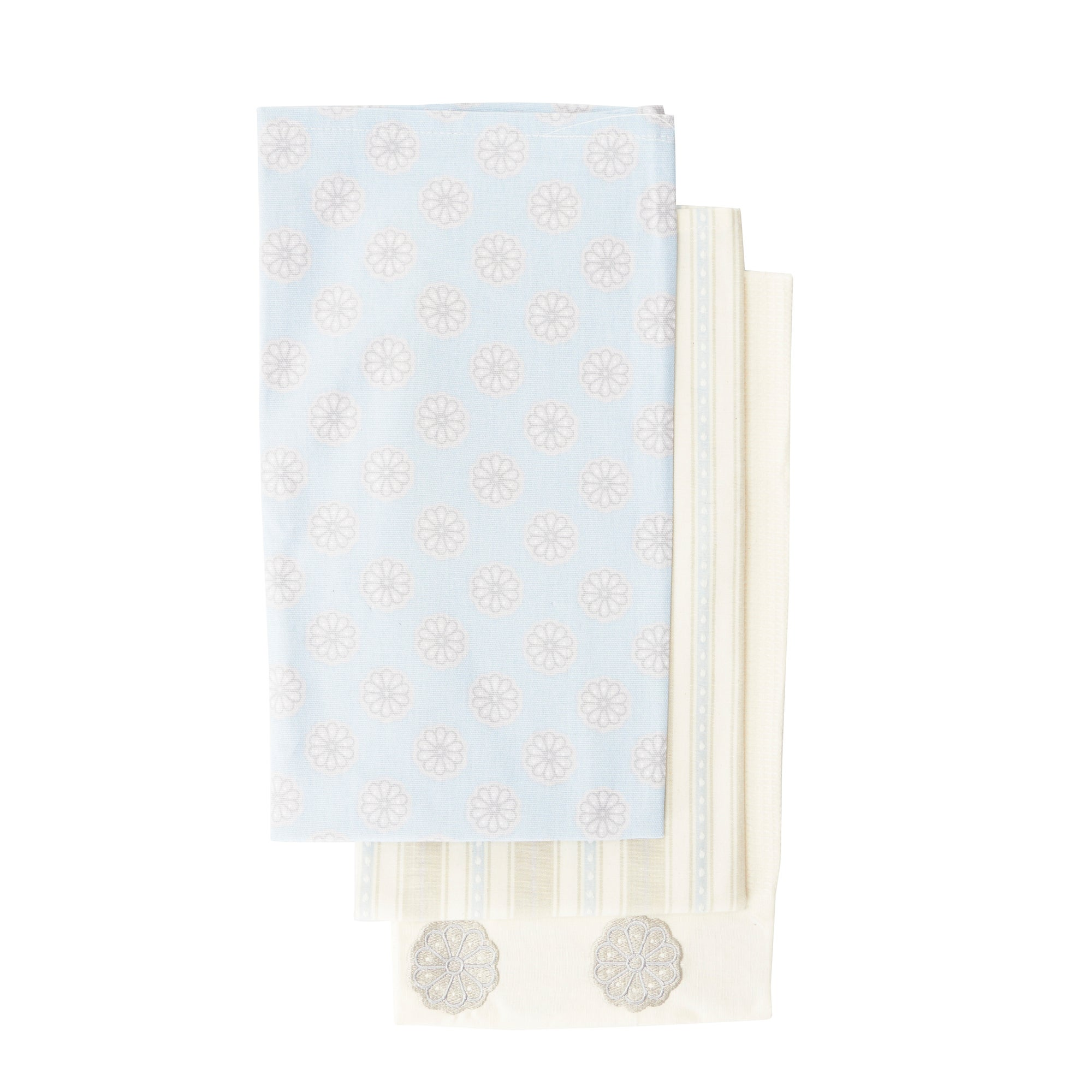 Pack of 3 Cottage Fresh Tea Towels