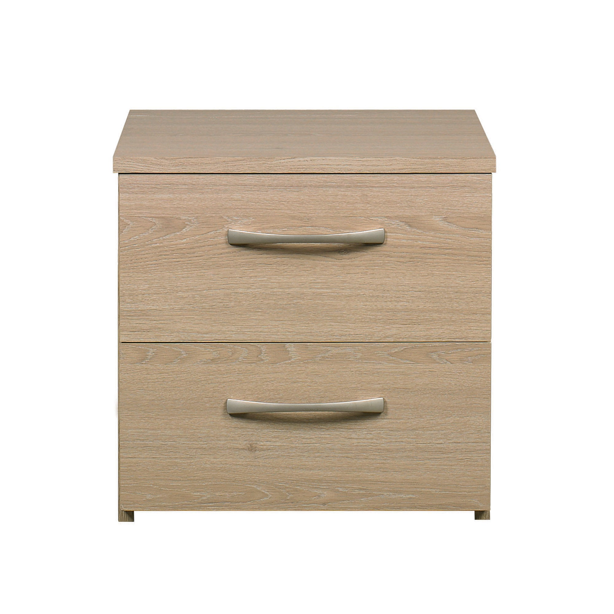 Boston Oak 2 Drawer Bedside Unit