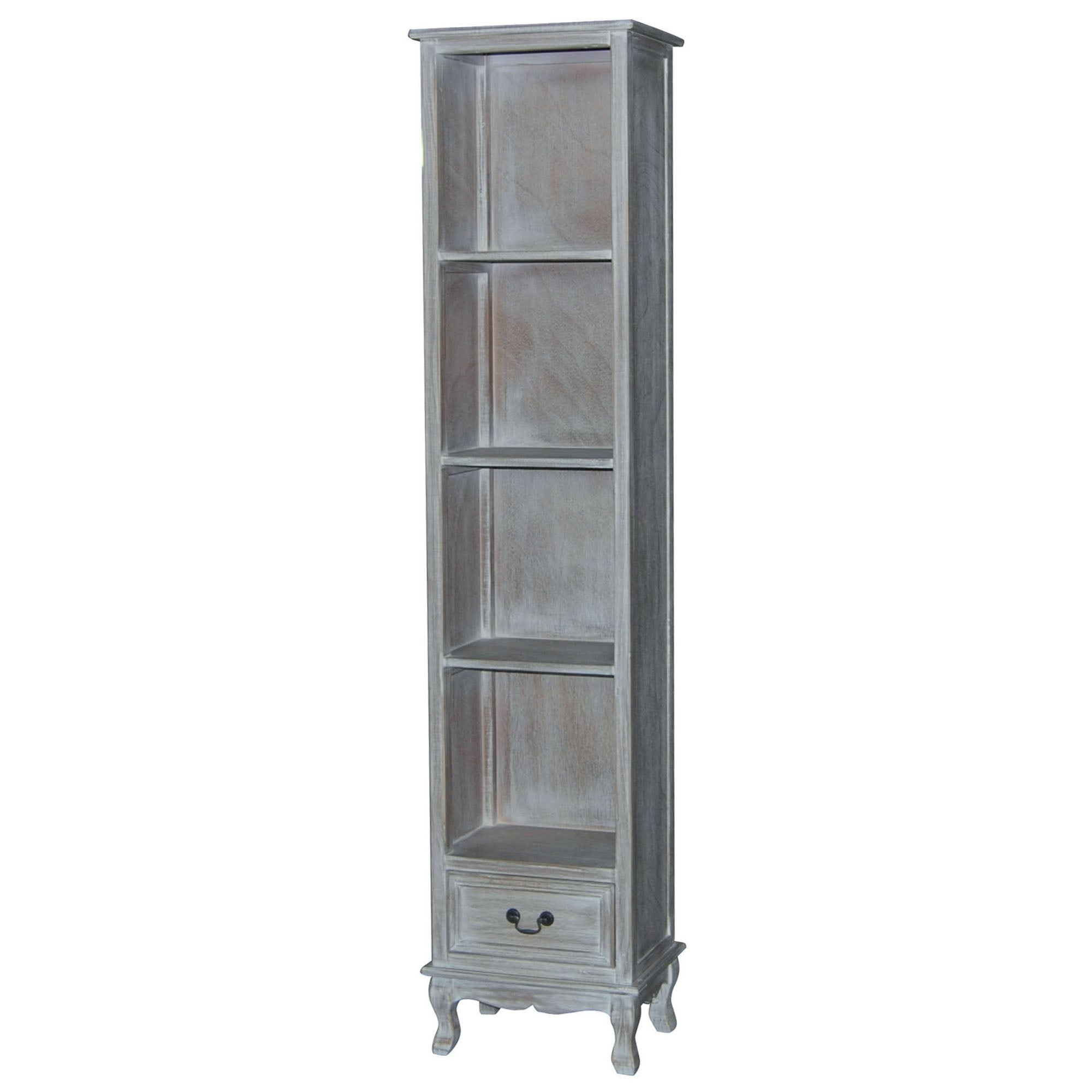 Bordeaux Washed Wood Narrow Bookcase
