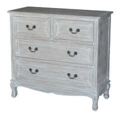 Bordeaux Washed Wood 4 Drawer Cabinet