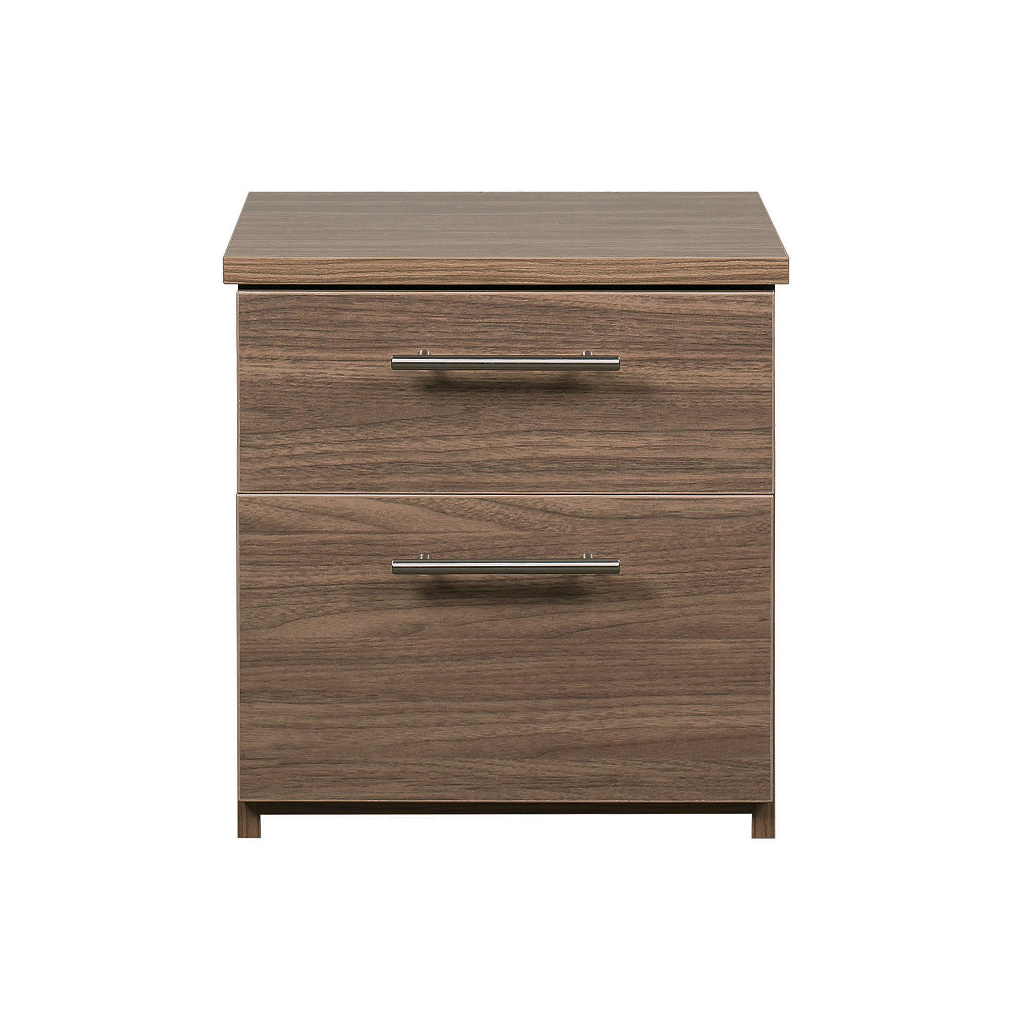 Brisbane Walnut 2 Drawer Bedside Unit
