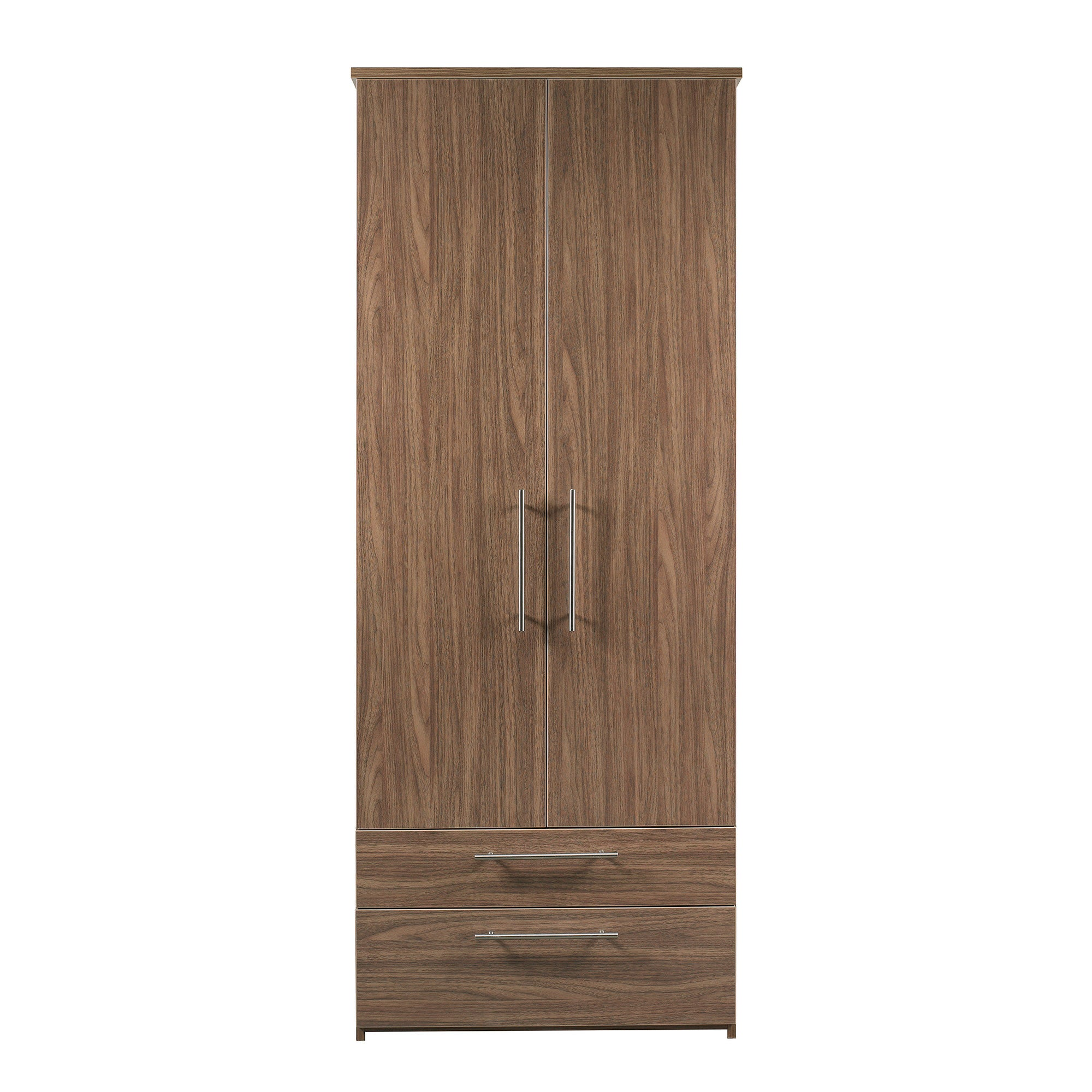 Brisbane Walnut Wardrobe with 2 Drawers