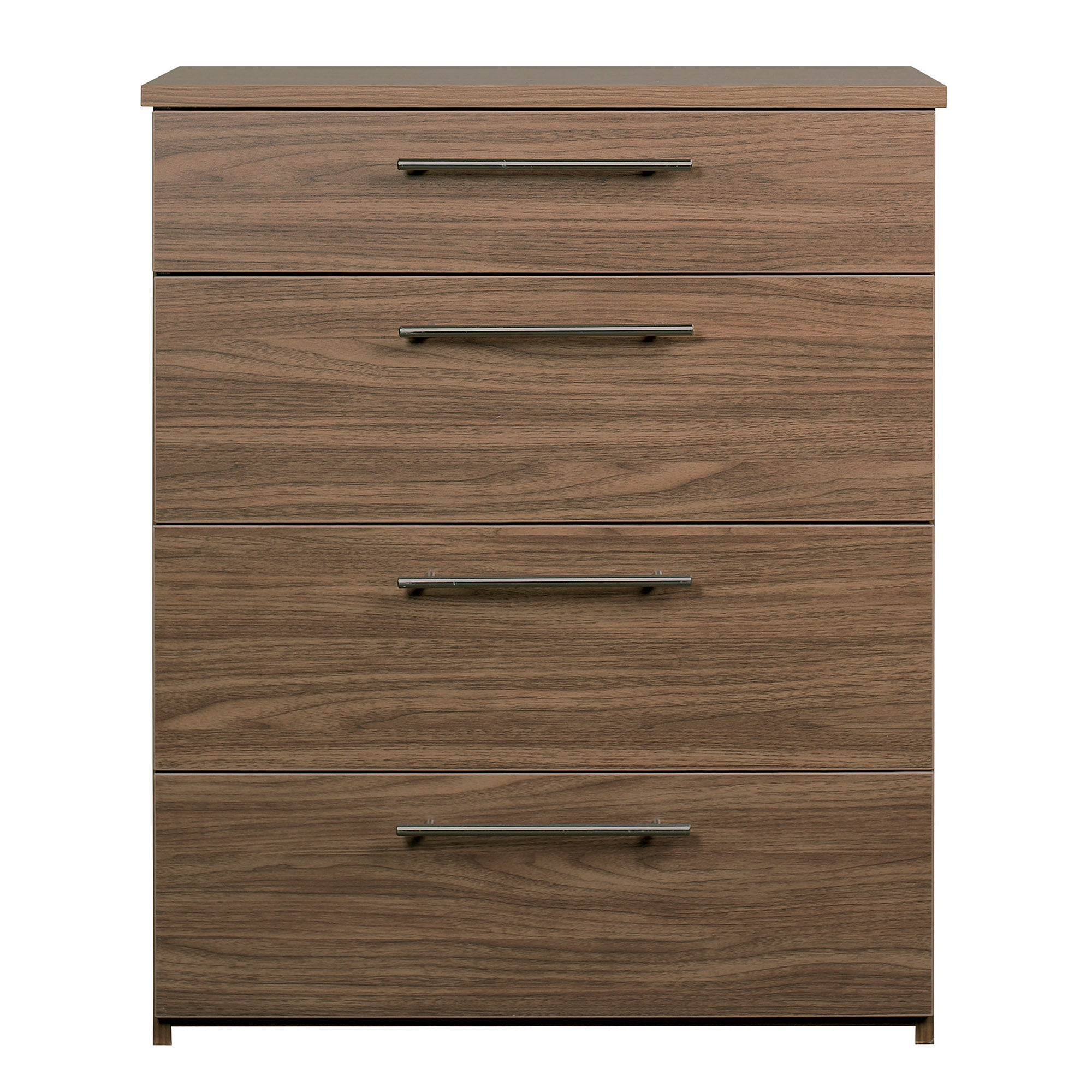 Brisbane Walnut 4 Drawer Chest