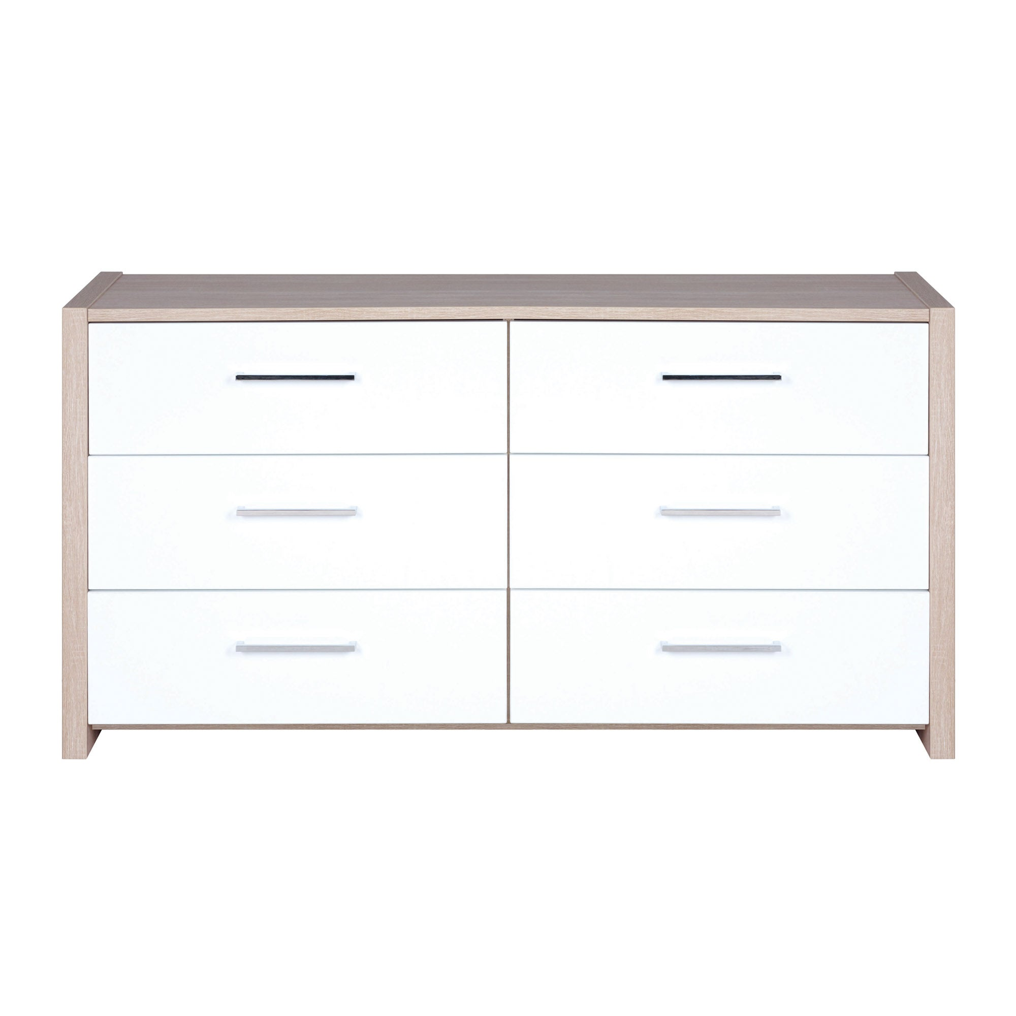 Indiana White 6 Drawer Chest