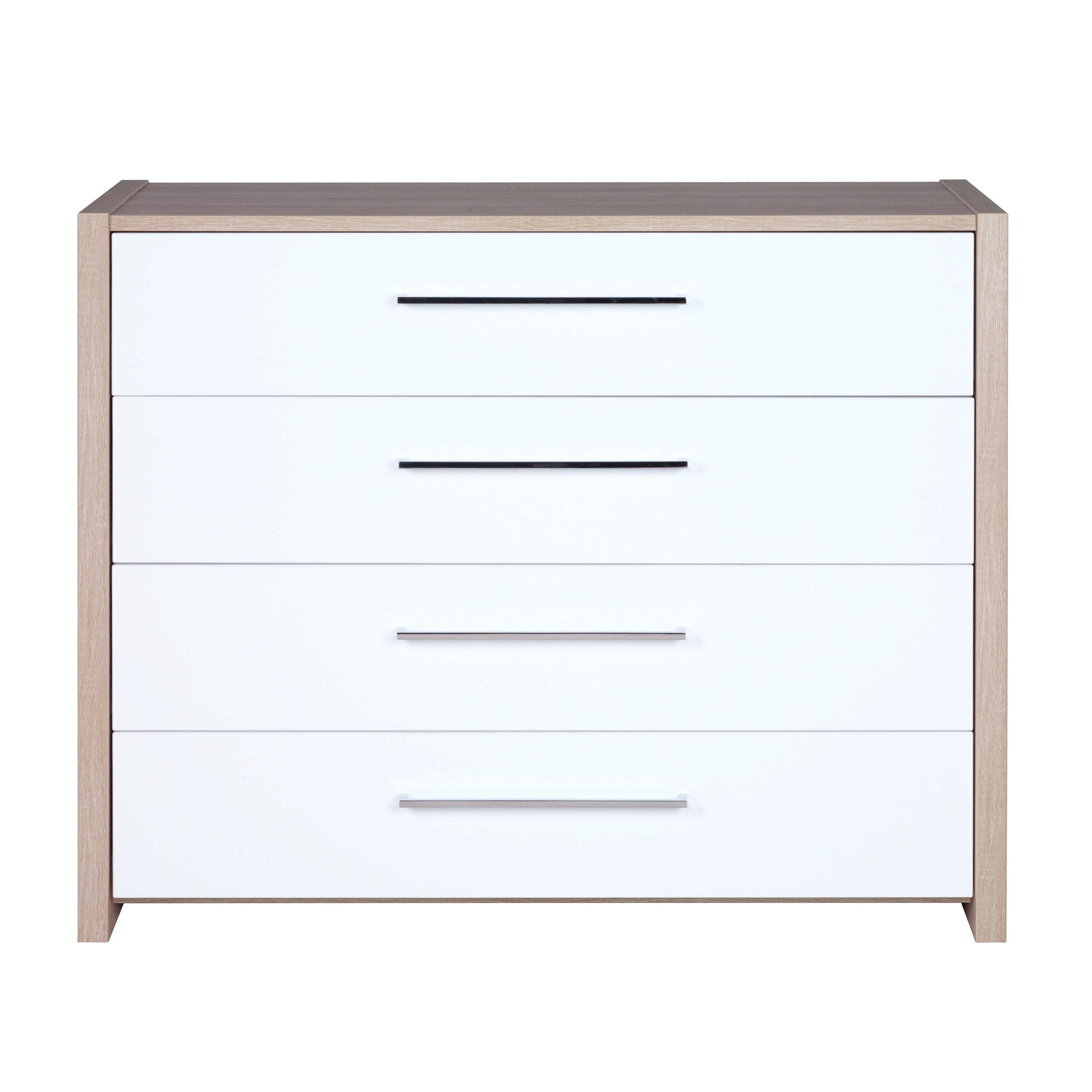 Indiana White 4 Drawer Chest