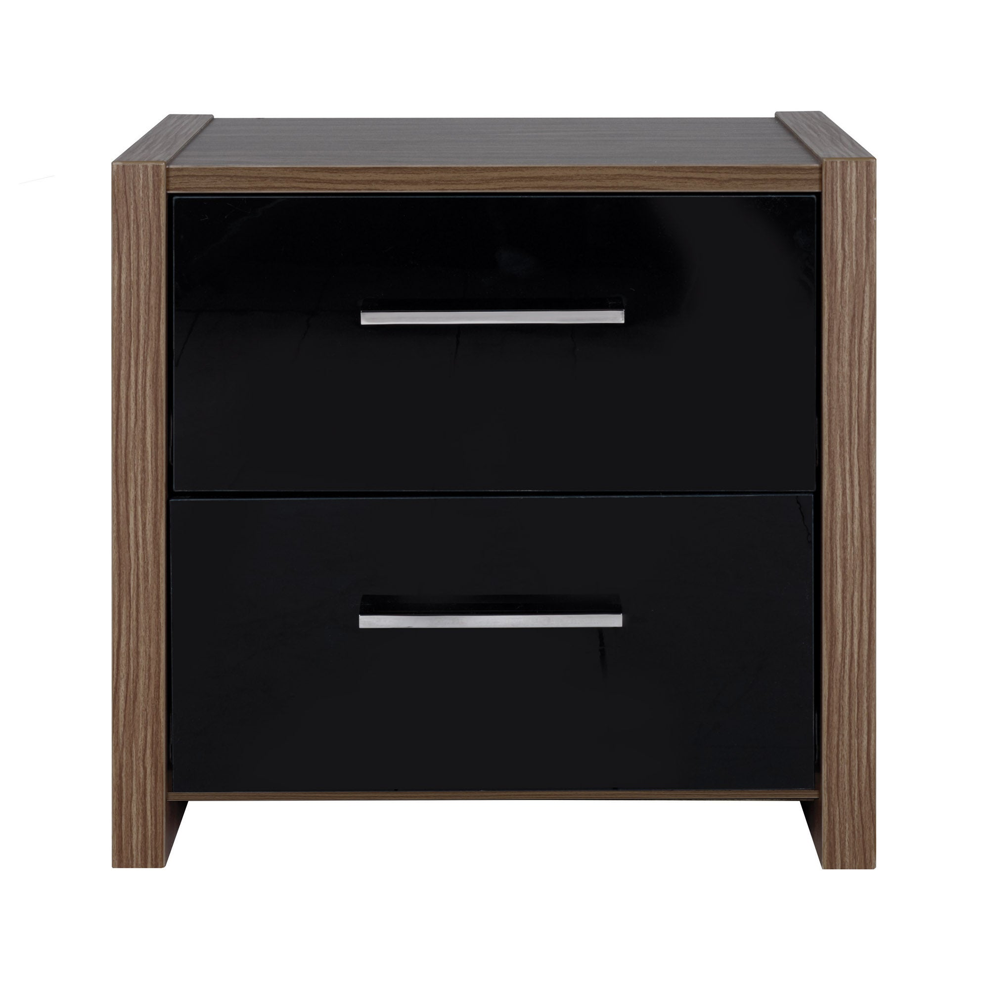 Indiana Black Bedside Table