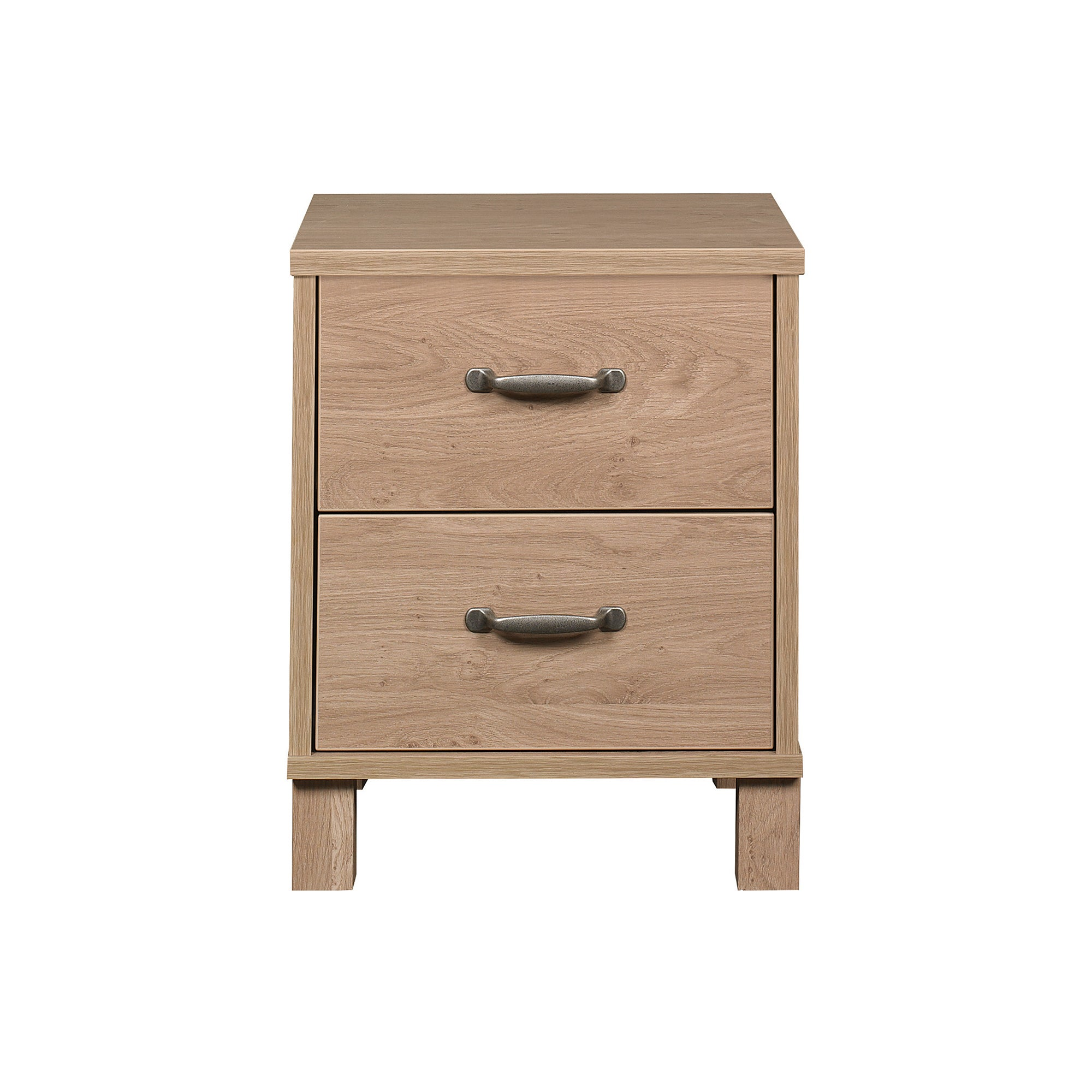 Perth Oak 2 Drawer Bedside Unit