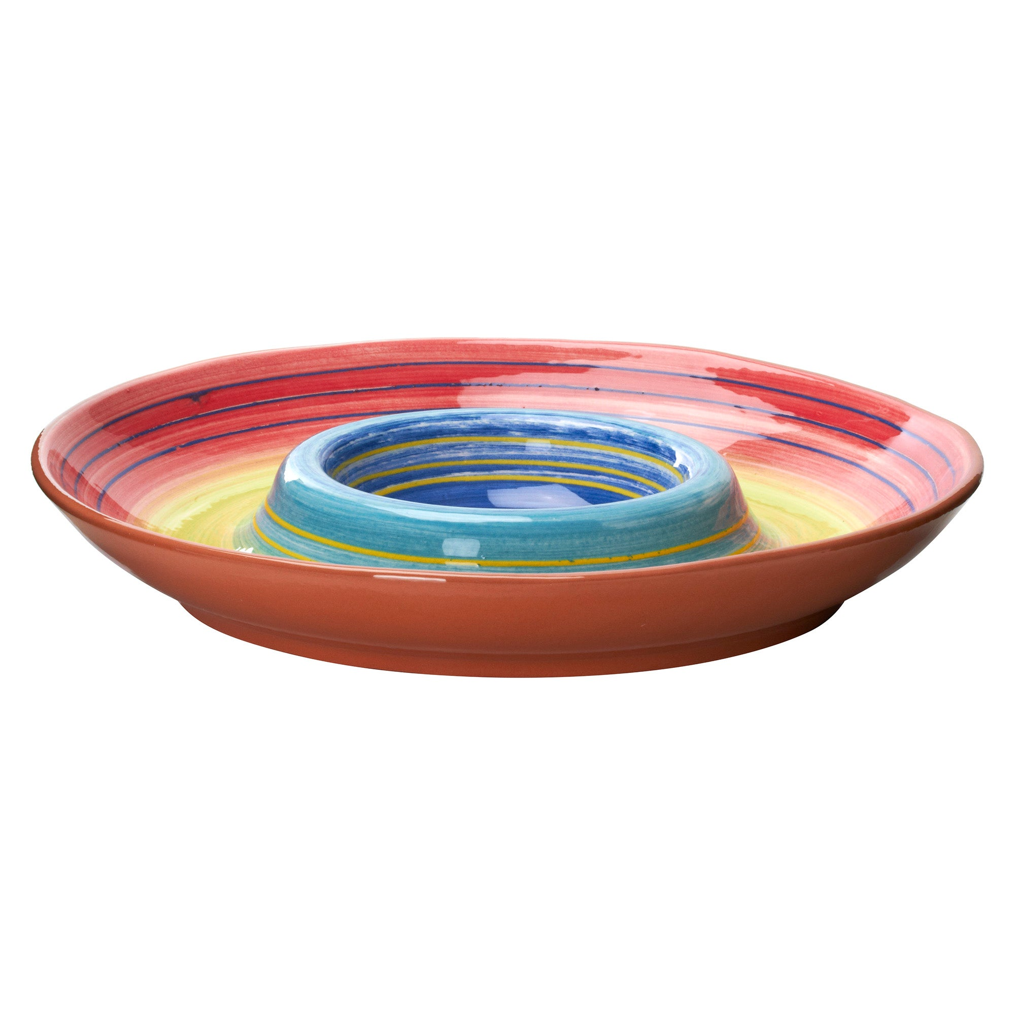 Mediterranean Rainbow Chip and Dip Plate